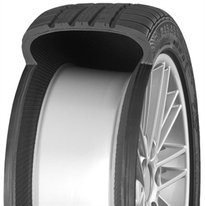 A BMW run flat tyres